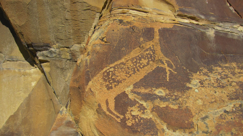 Legend Rock petroglyph, Cody, Wyoming
